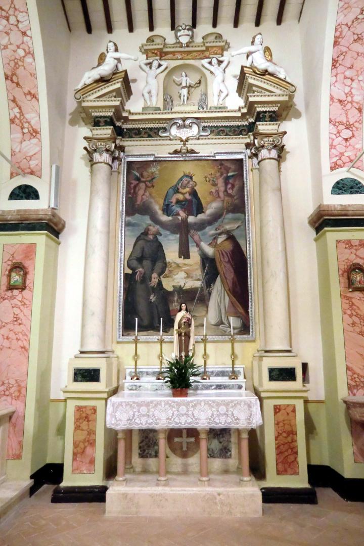 Chiesa di San Pietro - altare Madonna del Carmine - Grotti