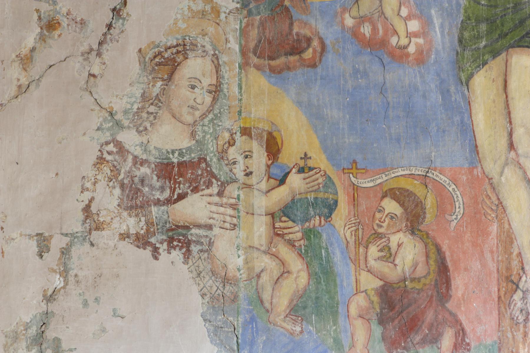 Chiesa di San Sebastiano - Madonna con Bambino e San Giovannino - Castel San Felice1920