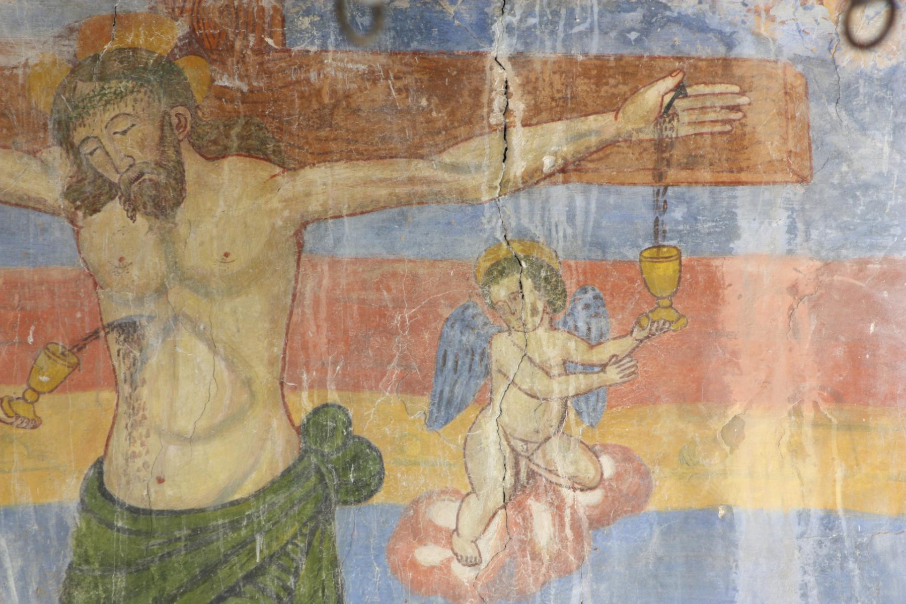 Chiesa di San Sebastiano - crocifissione, particolare - Castel San Felice