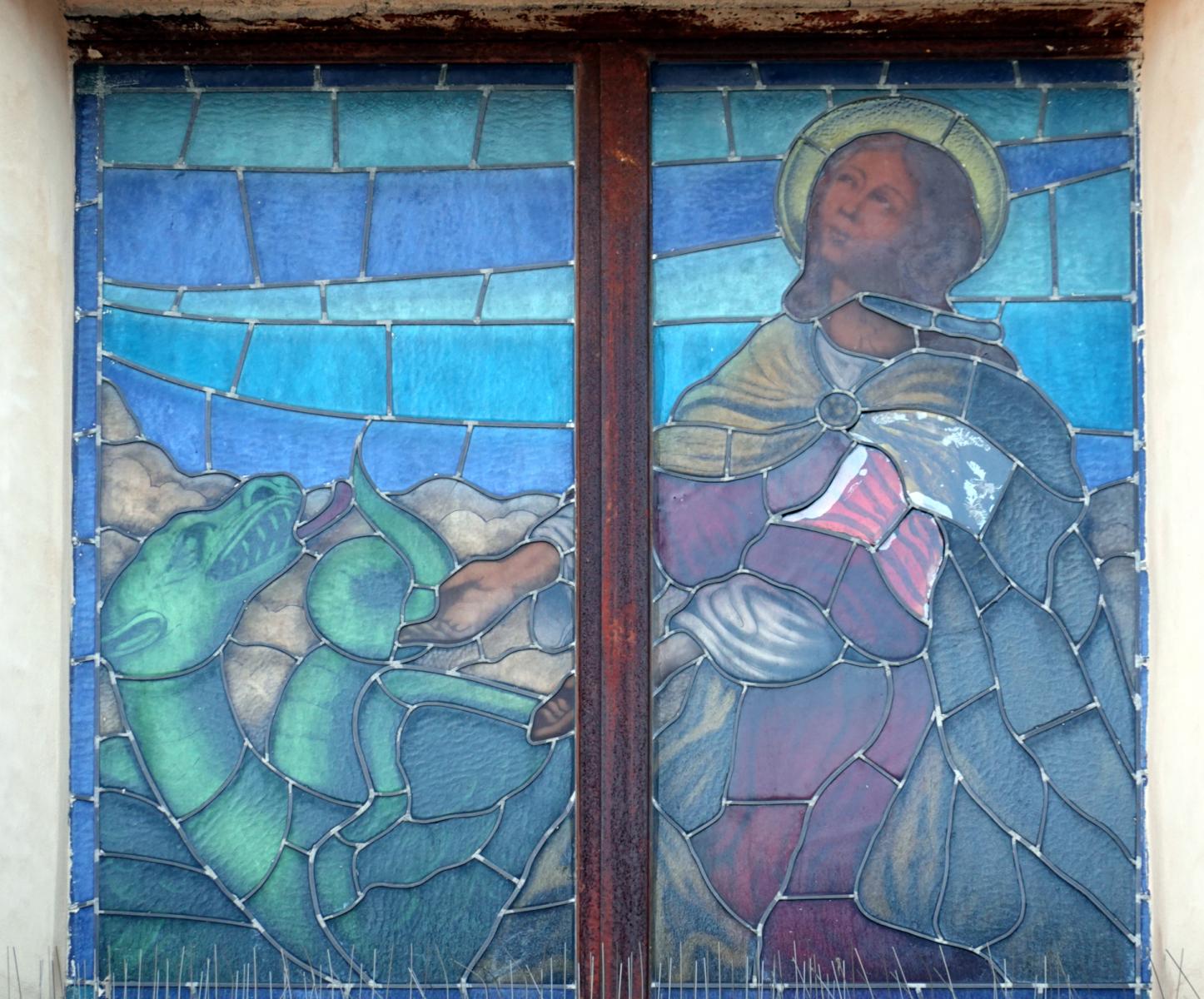 Chiesa di Sant'Anatolia - vetrata della facciata - Sant'Anatolia di Narco