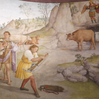 Scena di caccia - Chiesa di San Michele Arcangelo - Gavelli