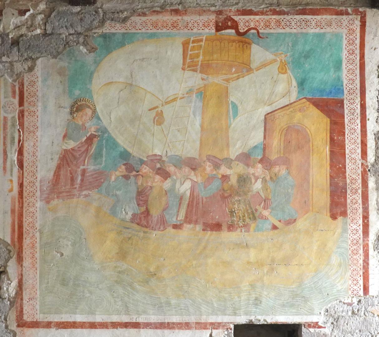Chiesa di Santa Cristina - affresco con nave - Caso