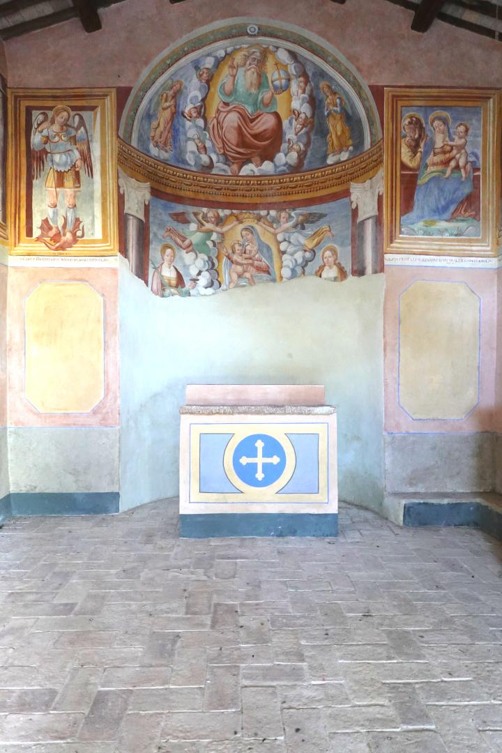 Chiesa di Santa Lucia - affreschi dellì'abside -  Tassinare