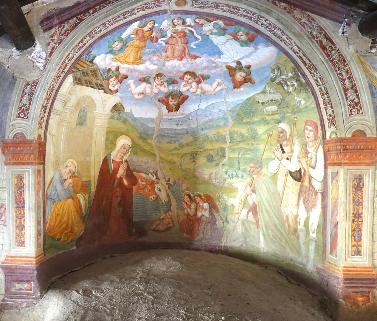 Chiesa di Santa Maria delle Grazie - nicchia con adorazione dei pastori - Caso