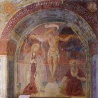 Chiesa di Santa Maria delle Grazie -nicchia con crocifissione e San Girolamo - Caso