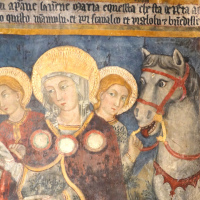 Chiesa di Santa Maria delle Grazie - nicchia della Madonna a cavallo - Caso