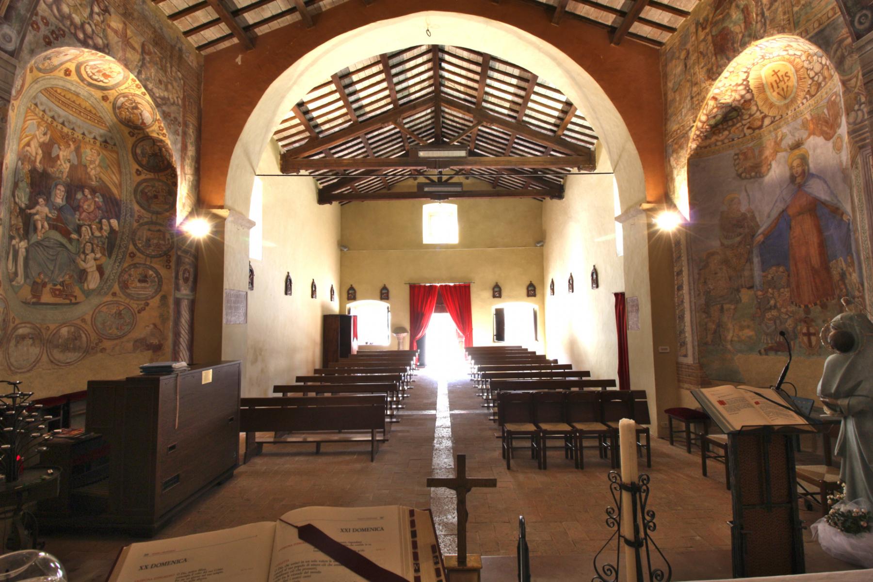 Chiesa di Santa Maria delle Grazie - interno - Sant'Anatolia di Narco