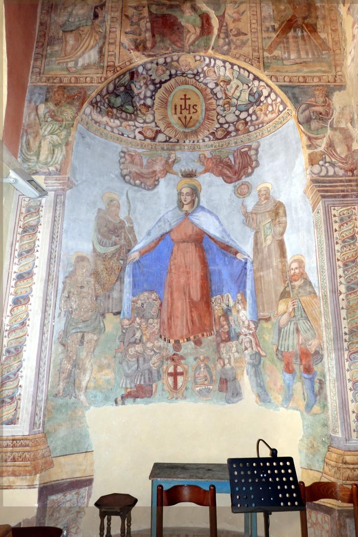 Chiesa di Santa Maria delle Grazie - nicchia della Madonna della Misericordia - Sant'Anatolia di Narco